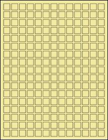 "Sheet of 0.5"" x 0.5"" Pastel Yellow labels"
