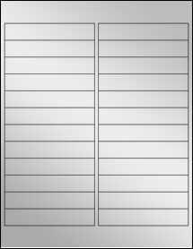"""Sheet of 4"""" x 0.75"""" Silver Foil Inkjet labels"""