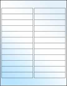 """Sheet of 4"""" x 0.75"""" White Gloss Inkjet labels"""