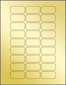 """Sheet of 1.875"""" x .9375"""" Gold Foil Laser labels"""