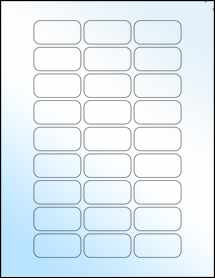 """Sheet of 1.875"""" x 0.9375"""" White Gloss Laser labels"""