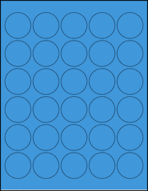 "Sheet of 1.5"" Circle True Blue labels"