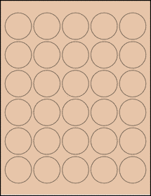 "Sheet of 1.5"" Circle Light Tan labels"