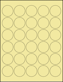 """Sheet of 1.5"""" Circle Pastel Yellow labels"""