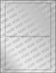 """Sheet of 7"""" x 5"""" Void Silver Polyester labels"""