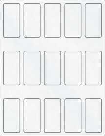 """Sheet of 1.31"""" x 2.75"""" Clear Matte Inkjet labels"""