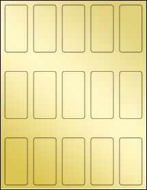 """Sheet of 1.3125"""" x 2.75"""" Gold Foil Inkjet labels"""