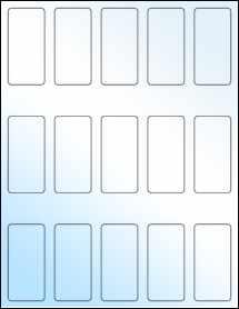 """Sheet of 1.3125"""" x 2.75"""" White Gloss Inkjet labels"""
