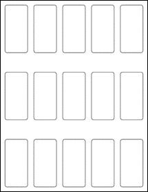 """Sheet of 1.3125"""" x 2.75"""" Weatherproof Gloss Inkjet labels"""