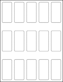 "Sheet of 1.3125"" x 2.75"" Removable White Matte labels"