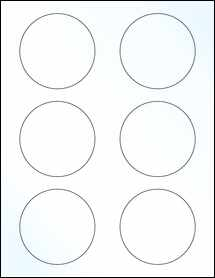 "Sheet of 3"" Circle Clear Gloss Laser labels"