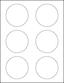 """Sheet of 3"""" Circle 100% Recycled White labels"""