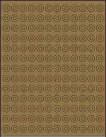 "Sheet of 0.5625"" Brown Kraft labels"