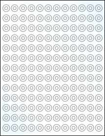 "Sheet of 0.5625"" Circle Clear Gloss Laser labels"