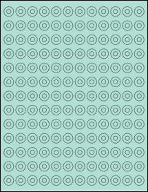 "Sheet of 0.5625"" Circle Pastel Green labels"