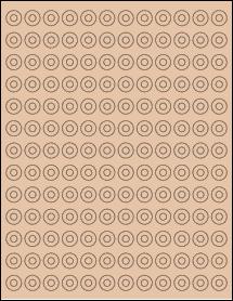 "Sheet of 0.5625"" Circle Light Tan labels"