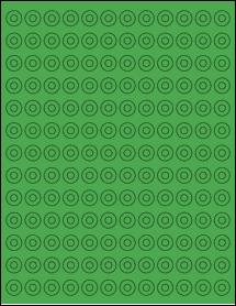 """Sheet of 0.5625"""" True Green labels"""