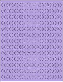 "Sheet of 0.5625"" Circle True Purple labels"