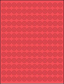 """Sheet of 0.5625"""" Circle True Red labels"""