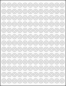 """Sheet of 0.5625"""" Removable White Matte labels"""
