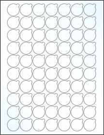 "Sheet of 0.9992"" x 0.9992"" Clear Gloss Inkjet labels"