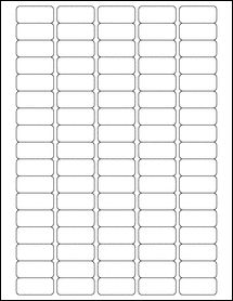 """Sheet of 1.375"""" x 0.625""""  labels"""