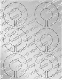 "Sheet of 3.25"" x 3.25"" Void Silver Polyester labels"