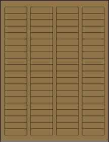 """Sheet of 1.75"""" x 0.5"""" Brown Kraft labels"""