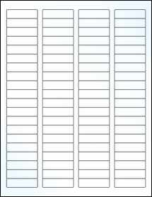 """Sheet of 1.75"""" x 0.5"""" Clear Gloss Laser labels"""
