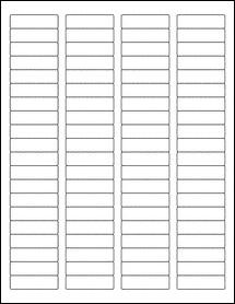 "Sheet of 1.75"" x 0.5"" Weatherproof Polyester Laser labels"