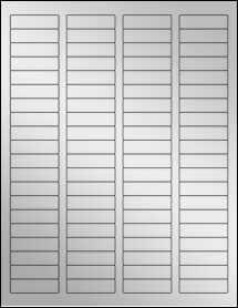 """Sheet of 1.75"""" x 0.5"""" Silver Foil Laser labels"""