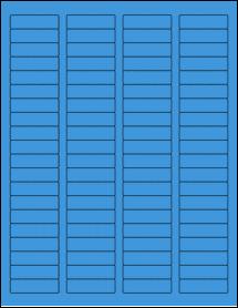 "Sheet of 1.75"" x 0.5"" True Blue labels"