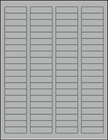 "Sheet of 1.75"" x 0.5"" True Gray labels"