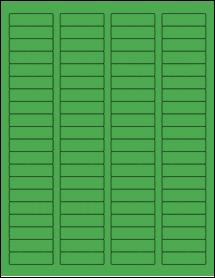 "Sheet of 1.75"" x 0.5"" True Green labels"