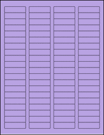 """Sheet of 1.75"""" x 0.5"""" True Purple labels"""