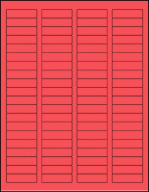 """Sheet of 1.75"""" x 0.5"""" True Red labels"""