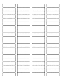 "Sheet of 1.75"" x 0.5"" Removable White Matte labels"
