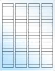 "Sheet of 1.75"" x 0.5"" White Gloss Laser labels"