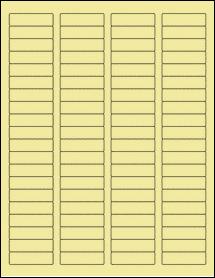 "Sheet of 1.75"" x 0.5"" Pastel Yellow labels"