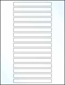 "Sheet of 5"" x 0.5"" Clear Gloss Inkjet labels"