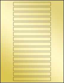"Sheet of 5"" x 0.5"" Gold Foil Laser labels"