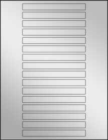 """Sheet of 5"""" x 0.5"""" Silver Foil Inkjet labels"""