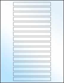 """Sheet of 5"""" x 0.5"""" White Gloss Inkjet labels"""
