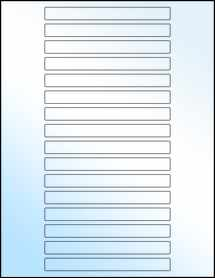 """Sheet of 5"""" x 0.5"""" White Gloss Laser labels"""