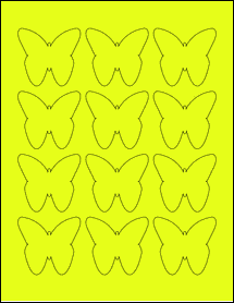 "Sheet of 2.2901"" x 2.1094"" Fluorescent Yellow labels"