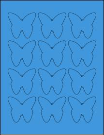 "Sheet of 2.2901"" x 2.1094"" True Blue labels"