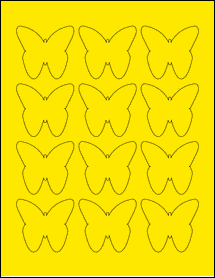 "Sheet of 2.2901"" x 2.1094"" True Yellow labels"