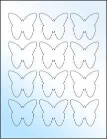 """Sheet of 2.2901"""" x 2.1094"""" White Gloss Inkjet labels"""