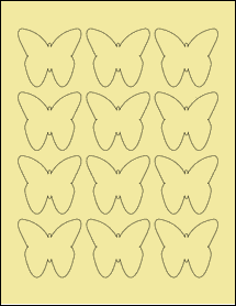 "Sheet of 2.2901"" x 2.1094"" Pastel Yellow labels"