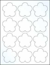 "Sheet of 2.4565"" x 2.3962"" Clear Gloss Inkjet labels"